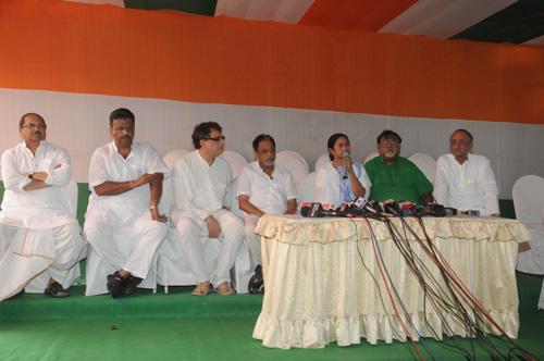 Mamata addresses media