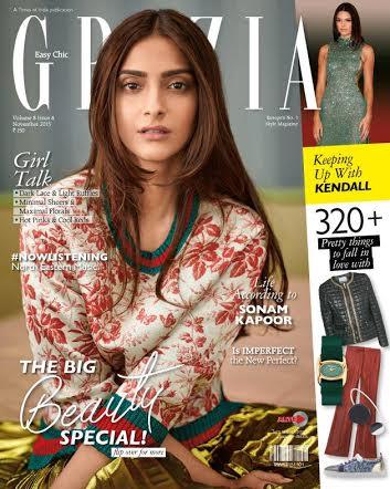 Sonam graces cover of Grazia India Magazine