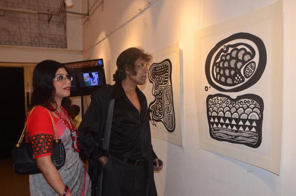Academy of Fine Arts hosts Black & White art exhibition by artist Saumi Nandy
