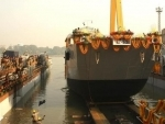 Landing craft utility ship for Indian Navy launched at GRSE
