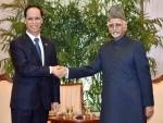 Myanmar VP meets Hamid Ansari