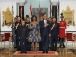 Obama attends banquet hosted at Rashtrapati Bhavan