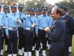 Arup Raha interacting with IAF Republic Day Parade 2015 marching contingent