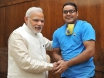 Cyclist on nationwide yatra to generate awareness about Swachhta Abhiyan meets PM