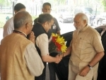 PM urges Panchayat members to work with a five-year vision
