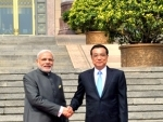 Narendra Modi with the Chinese Premier, Mr. Li Keqiang, during the Ceremonial Welcome