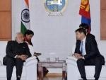 Modi meeting the Prime Minister of Mongolia