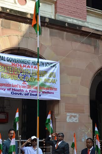 66th R-Day celebrations at CGHS Kolkata