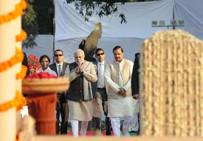 PM interacts with differently-abled children at Gandhi Smriti