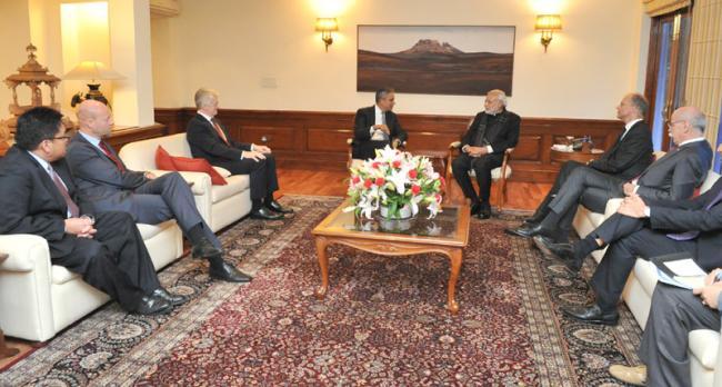 Global CEOs meet PM Modi