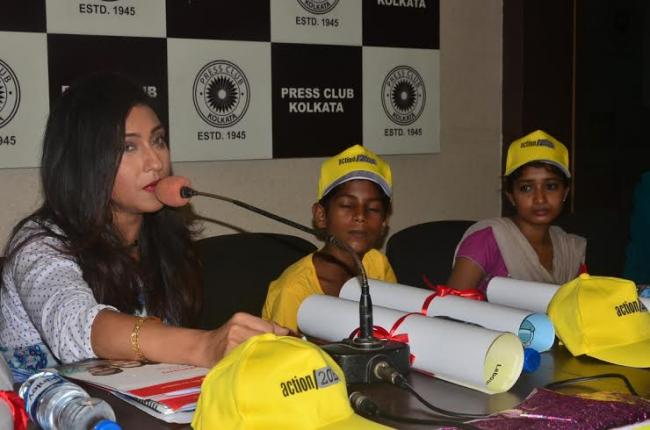 Rituparna joins initiative against child labour