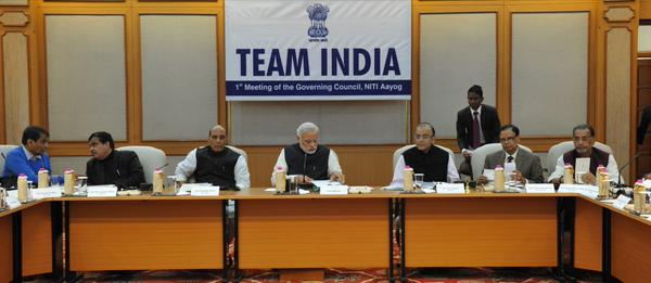 PM Modi chairs first Niti Aayog meeting