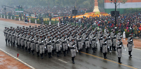 Rajpath during the 66th Republic Day Parade 2015
