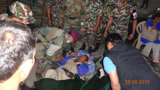 India Army conducts Op Maitri