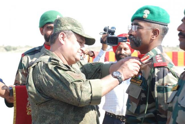India-Rusia Joint Military exercise culminates