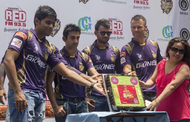 Gautam, KKR team members activate