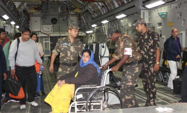 IAF evacuates 546 Indian nationals from quake hit Nepal