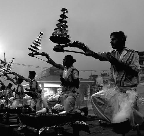 The aura of Ganga Aarti at Varanasi
