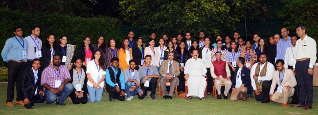 Venkaiah Naidu with participants of Know India Program