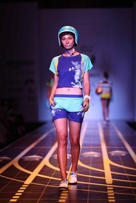 Designer Nida Mahmood displays her collection at Amazon India Fashion Week