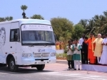 Narendra Modi flagging off 'Kalam Sandesh Vahini'