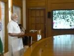 Narendra Modi addressing the 99th birthday celebrations of Dada Vaswani