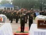 The Chief of Army Staff, General Bipin Rawat paying homage to the Martyrs