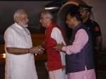 Gujarat Governor, CM welcome PM Modi at Ahmedabad airport