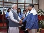 PM Modi at 2017 FIFA U-17 World Cup match in New Delhi