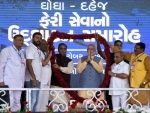 PM Modi reaches Gujarat, welcomed at public meeting in Ghogha