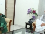 Mehbooba Mufti calling on the Union Home Minister,Rajnath Singh