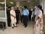 Narendra Modi visits R&R Hospital to see Marshal of the Indian Air Force Arjan Singh