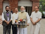 Narendra Modi casting his vote in the Presidential Election