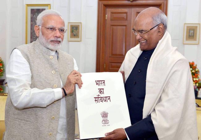 Narendra Modi calling on the President, Ram Nath Kovind
