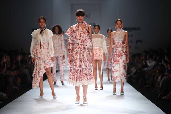 Amazon India Fashion Week: Hemant & Nandita displays their collection on floor