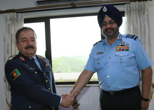 Lieutenant General Abdul Wahab Wardak, Vice Chief of General Staff (Air), Afghanistan National Security Forces visits India