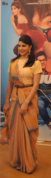 Varun Dhawan, Jacqueline Fernandez, Taapsee Pannu visit Kolkata to promote Judwaa 2