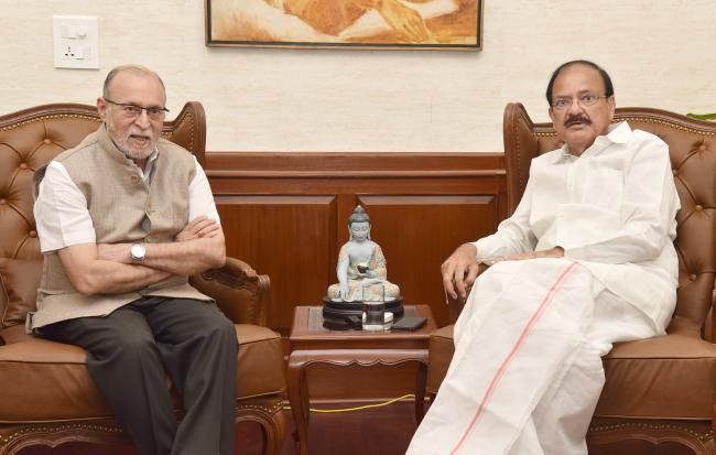Lt. Governor of Delhi calls on Vice President of India on Wednesday