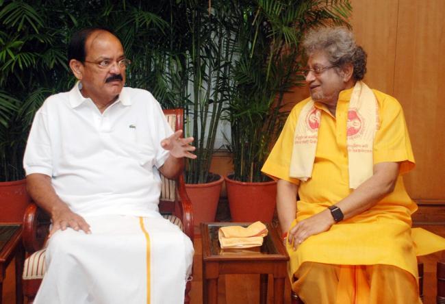 Pravav Panda calls on VP Naidu