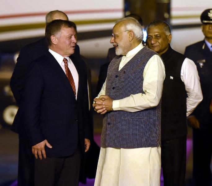The King of Jordan Abdullah II Bin Al-Hussein Visits India