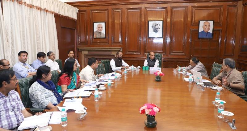 Rajnath Singh reviews Department of J&K Affairs progress
