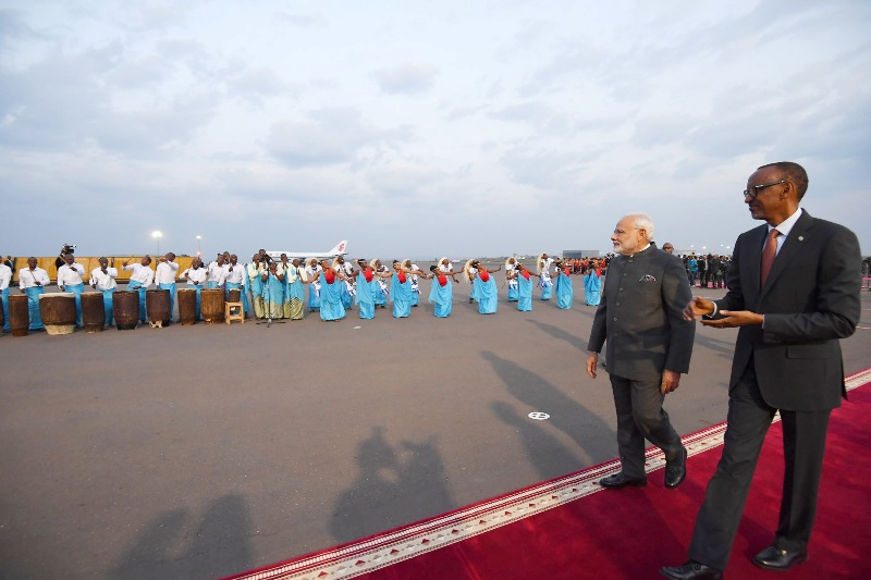Narendra Modi leaves for three-nation Africa tour