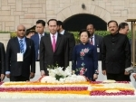 The President of Vietnam calls on Indian President,PM