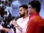 Virat Kohli, Sourav Ganguly interact, share moments in Kolkata