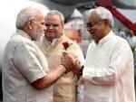 PM Modi meets Governor of Bihar Satya Pal Malik and CM of Bihar Nitish Kumar