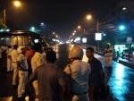 Kolkata Police cordon off Majherhat area following bridge collapse