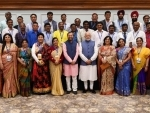 PM Modi shares moments with awardees of the National Teachers' Awards on Teachers' Day