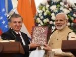 PM Modi, Uzbekistan President Shavkat Mirziyoyev issue joint press statement