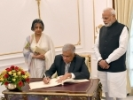 The Prime Minister of the Democratic Socialist Republic of Sri Lanka, Ranil Wickremesinghe visits in India