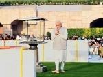 PM Modi performs parikrama on Mahatma Gandhi's birth anniversary at Rajghat